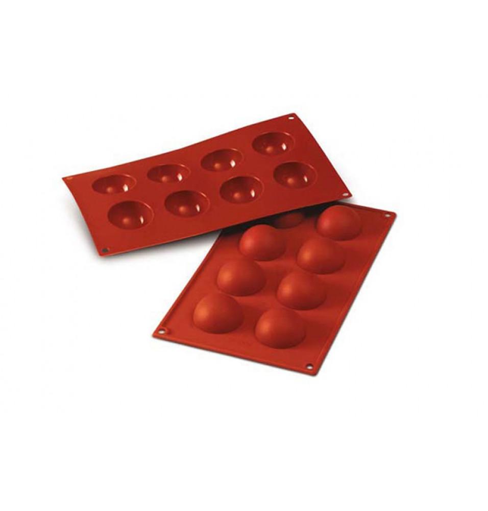 Forma din silicon pentru 8 semisfere cu diametrul de 50mm