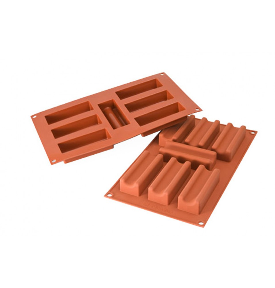 Forma din silicon pentru 7 prajituri Marsigliese cu dimensiunile de 95x35mm