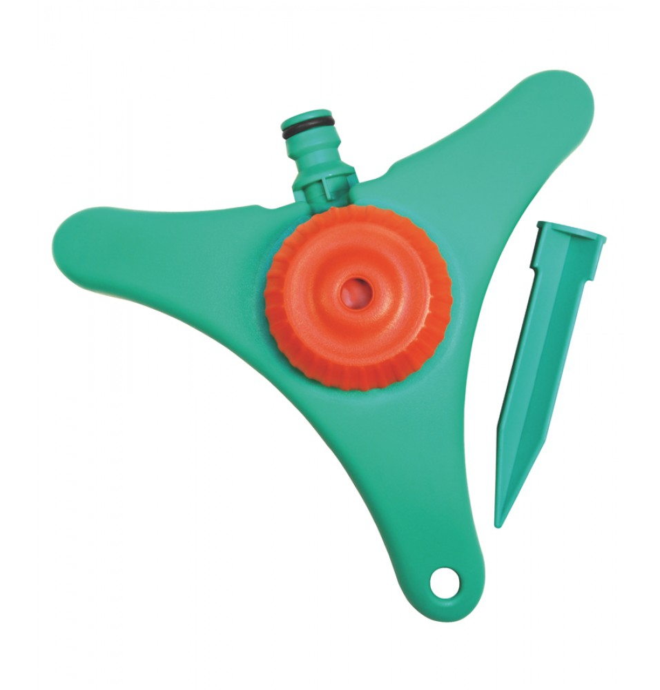 Aspersor static cu baza din material plastic si accesoriu pentru fixare in pamant