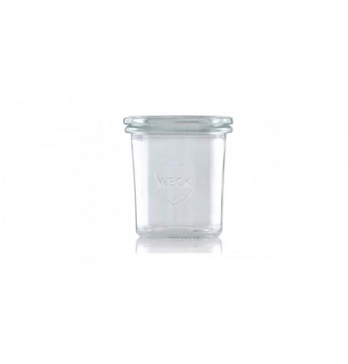 Borcan cu capac, model Mini Mold, din sticla, capacitate 140ml