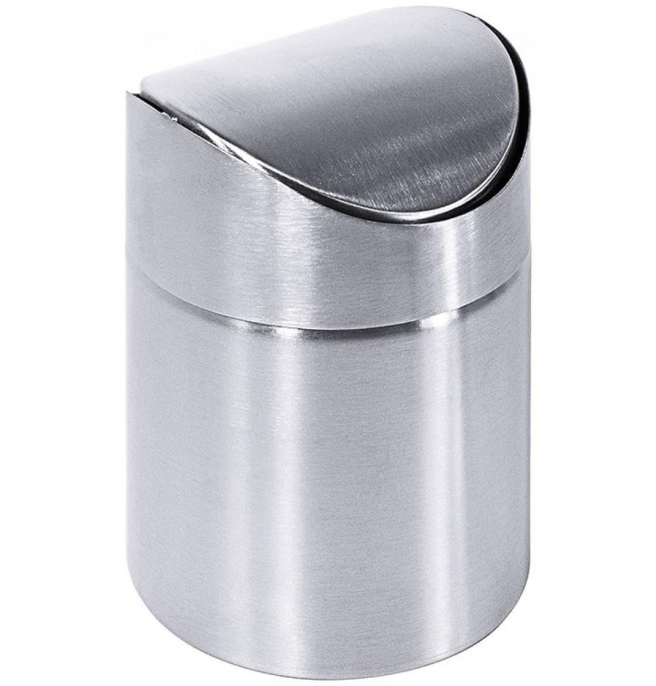 Cos de gunoi pentru masa, inox 18/10 cu finisaj satinat, diametru 90mm, inaltime 130mm