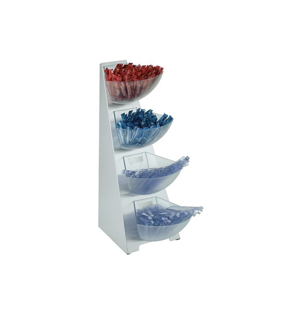 Expozitor universal cu 4 nivele, , capacitate 1 litru, dimensiuni 190x310x530hmm