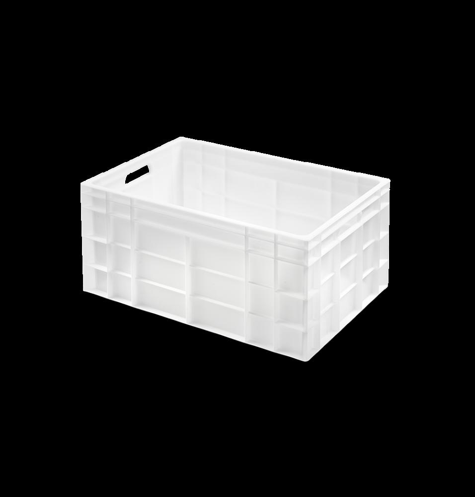 Naveta, alb, supraponibila, fundul si peretii fara perforatii, plastic