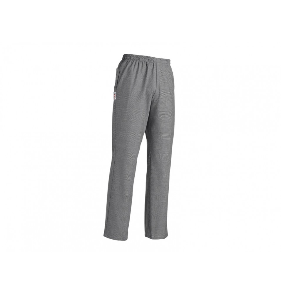 Pantalon bucatar -culoare gri cu imprimeu