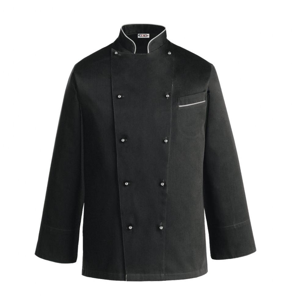 Tunica bucatar, cu maneca lunga si buzunar, culoare neagra, marime XL