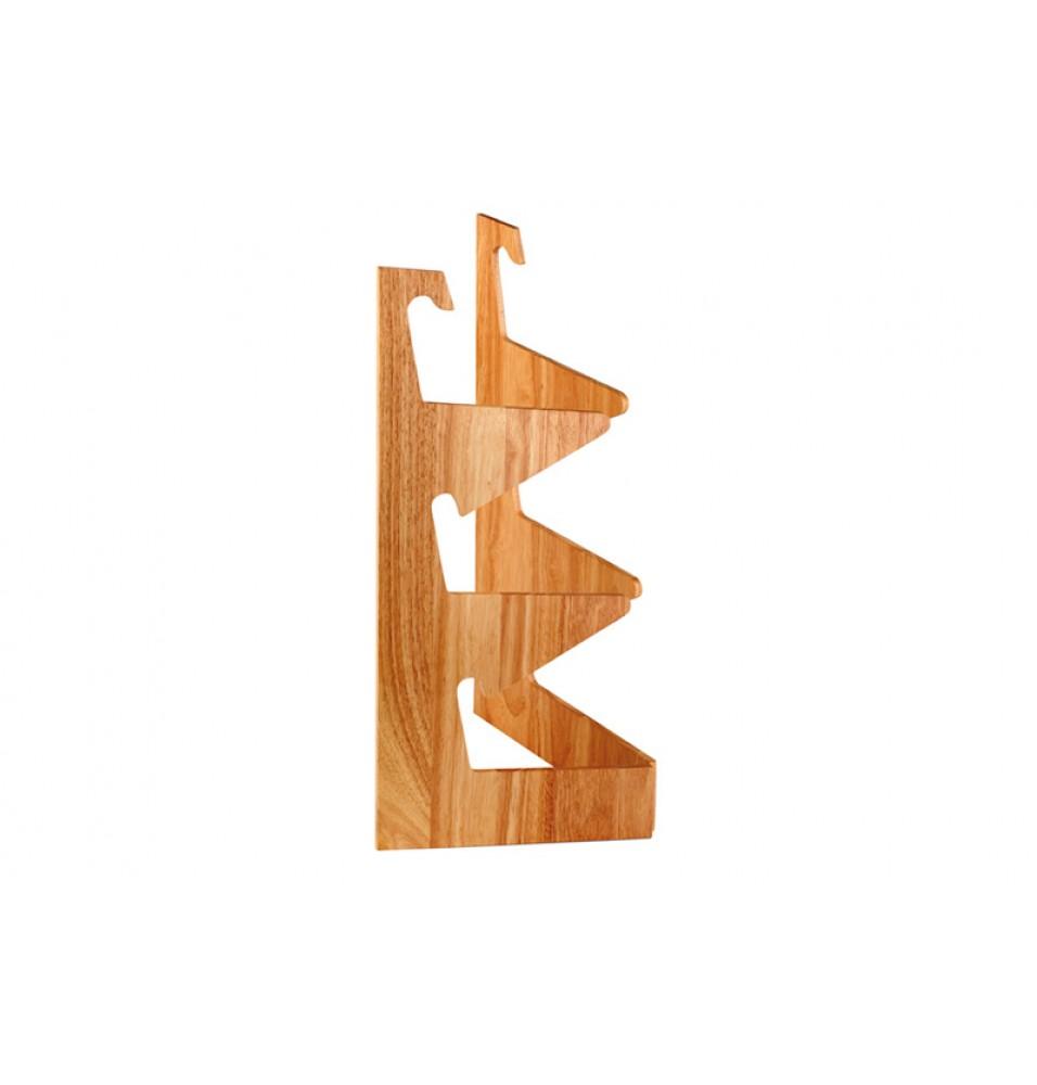 Suport pentru 3 cosuri de paine, lemn, utilizabil pentru cosuri rotunde/dreptunghiulare