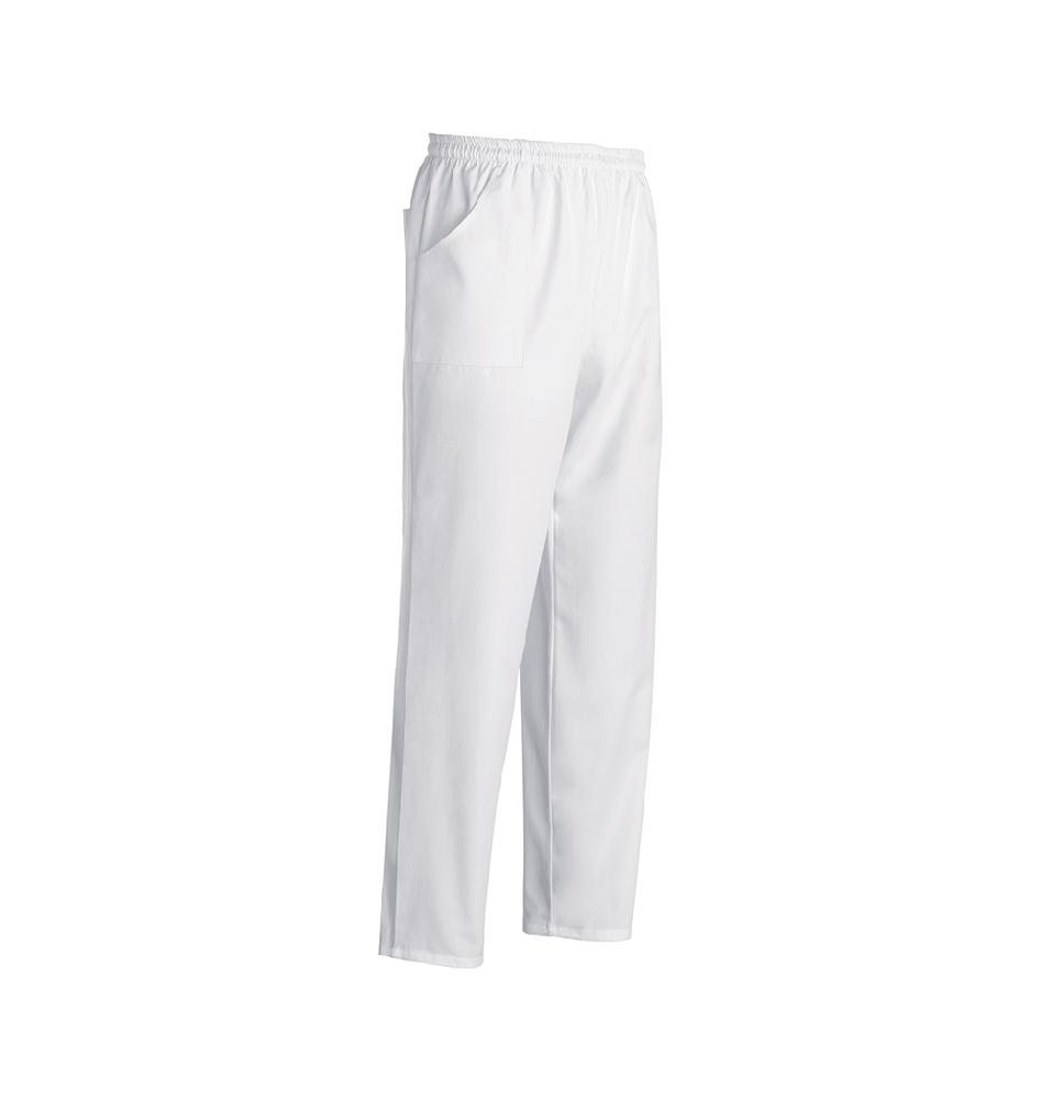 Pantalon bucatar, bumbac, alb, marime S
