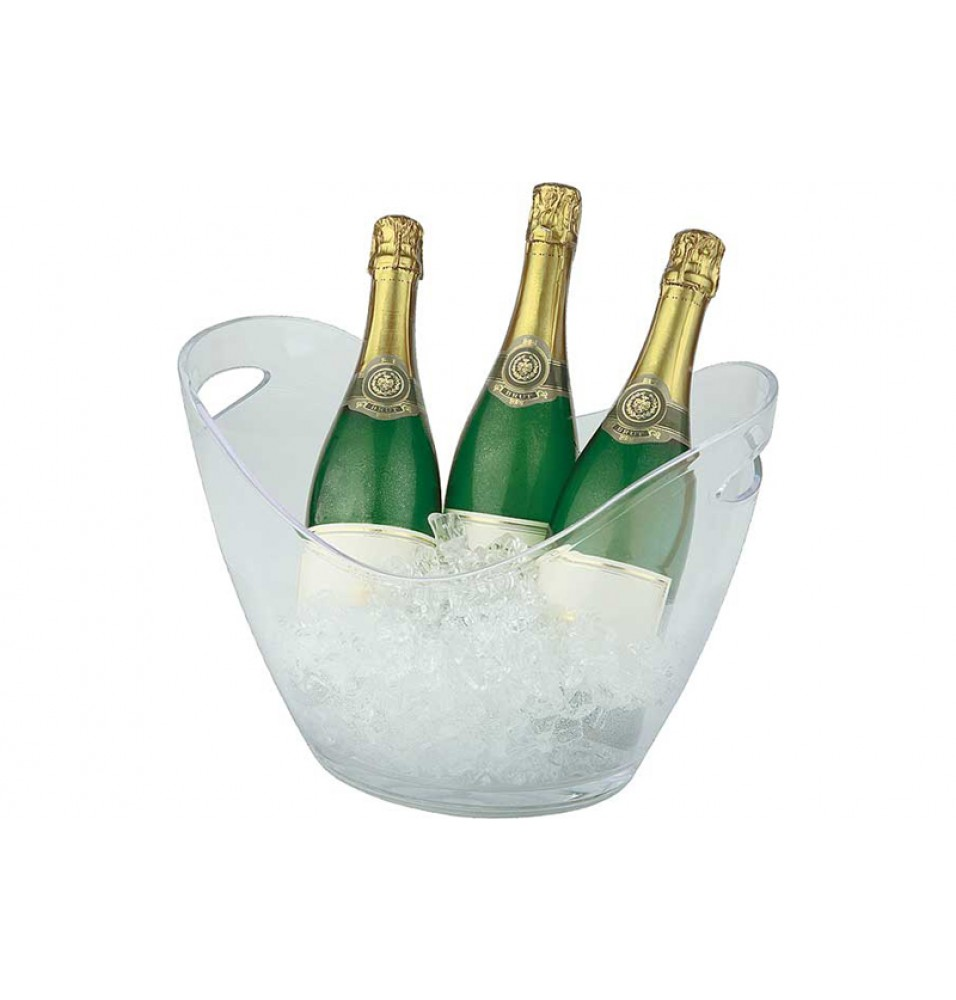 Frapiera vin/sampanie, 2 manere, acril+poliester, transparenta, dimensiuni: 350x270x255hmm