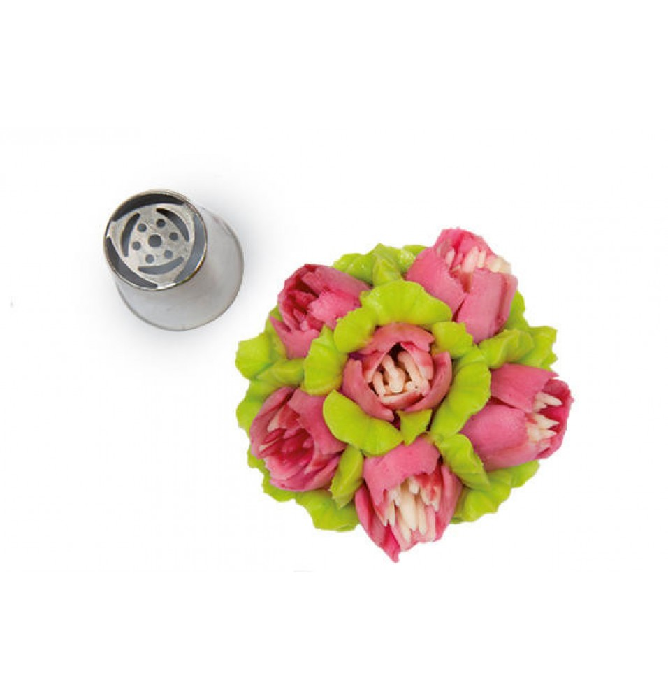 Dui inox decor -FLOWER TUBE 02, diametru 25 mm