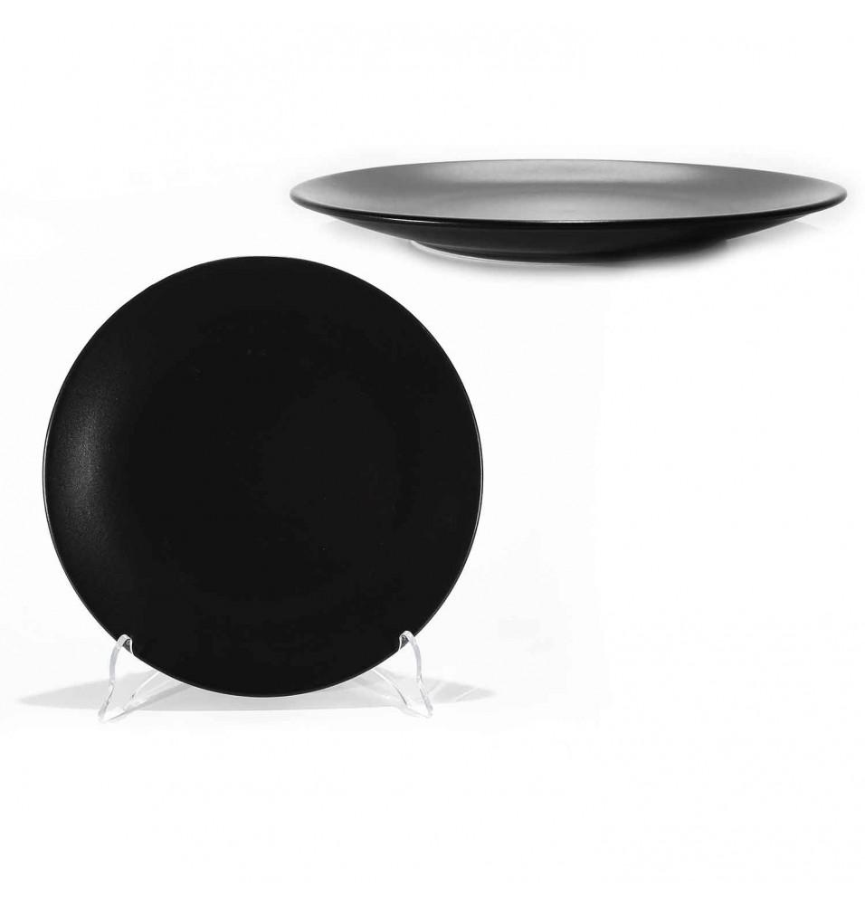 Farfurie intinsa diametru 260 mm, din portelan, culoare negru mat
