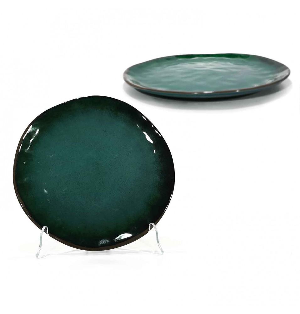 Farfurie intinsa diametru 260 mm, din portelan, culoare verde