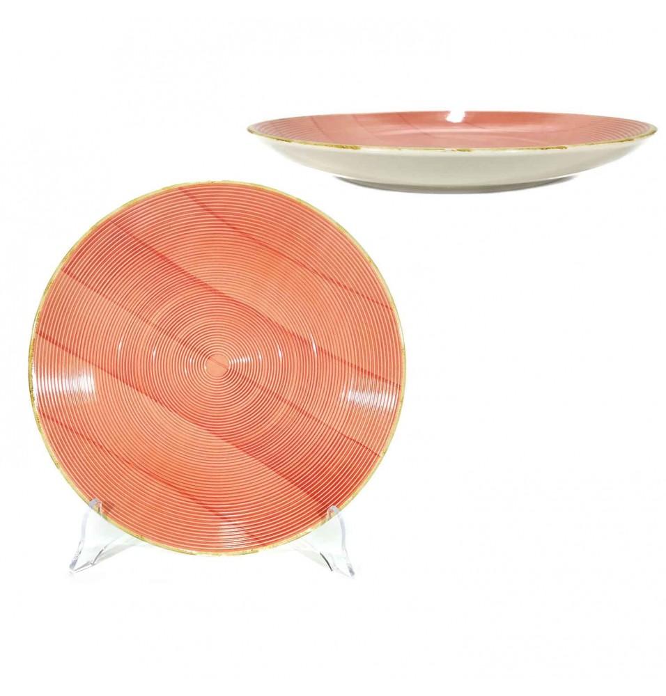 Farfurie intinsa diametru 270 mm, din portelan, culoare portocaliu