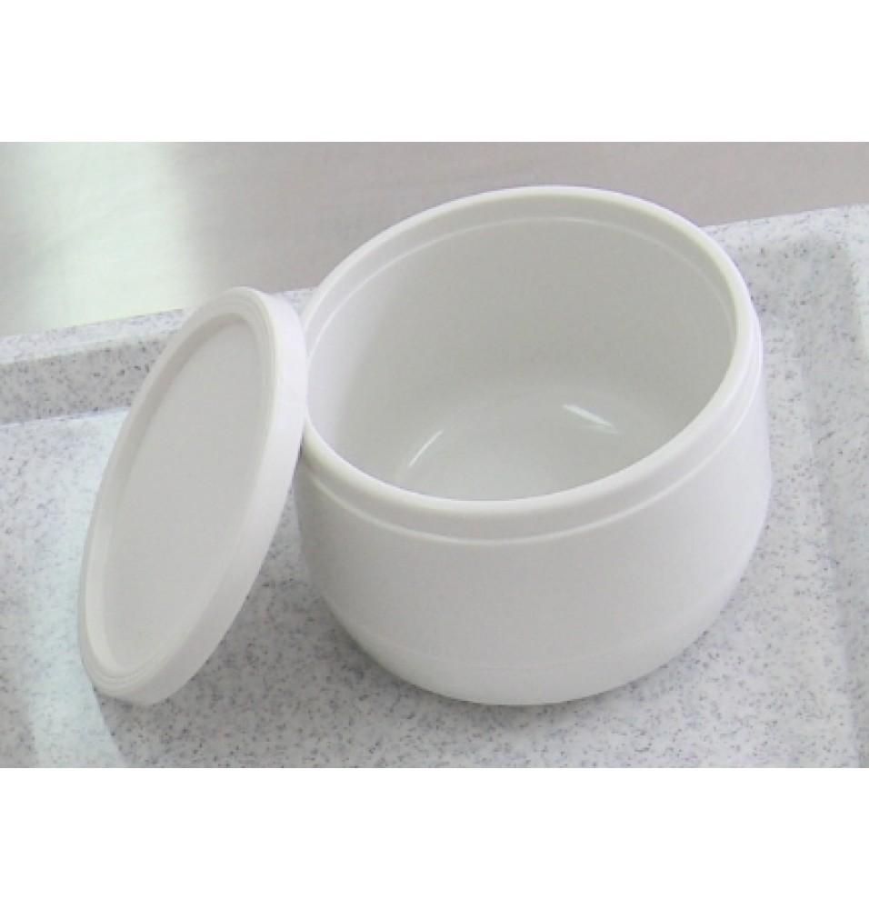 Farfurie pentru supa, cu capac, plastic