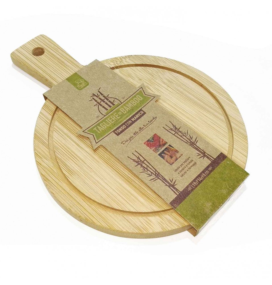 Tocator rotund bucatarie din lemn, dimensiuni 190 x 140 x 10h mm