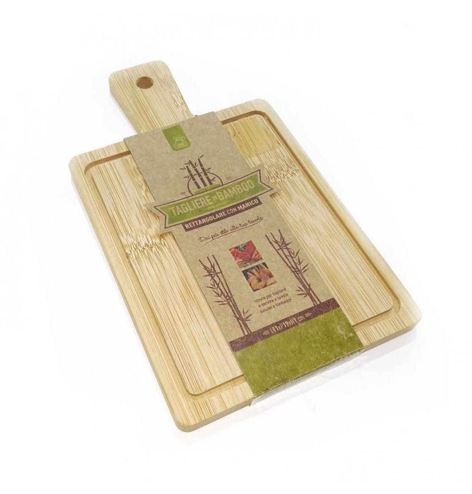 Tocator dreptunghiular bucatarie din lemn, dimensiuni 190x110x10h mm