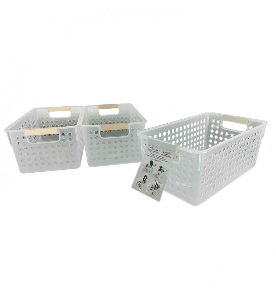 Cutie din platic, cu manere si perforatii pe laterale, dimensiuni 165x290x120h mm
