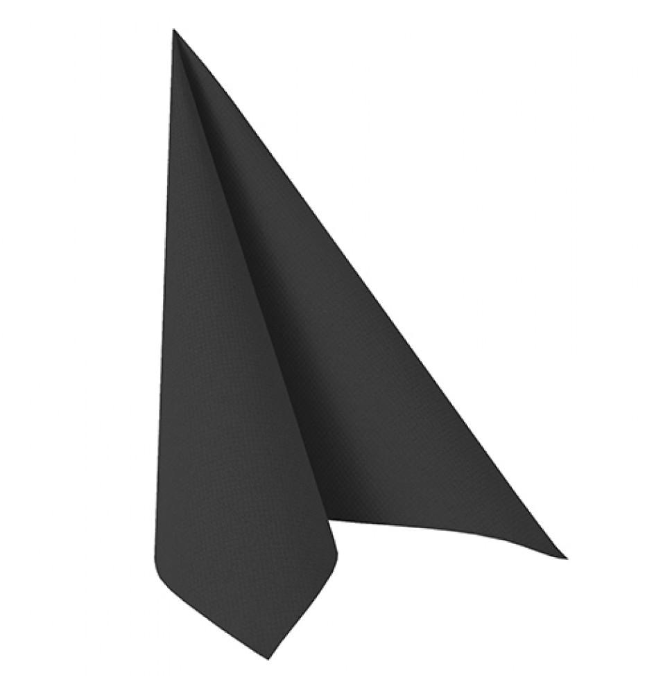Set 50 servetele, culoare negru, dimensiuni 400x400mm