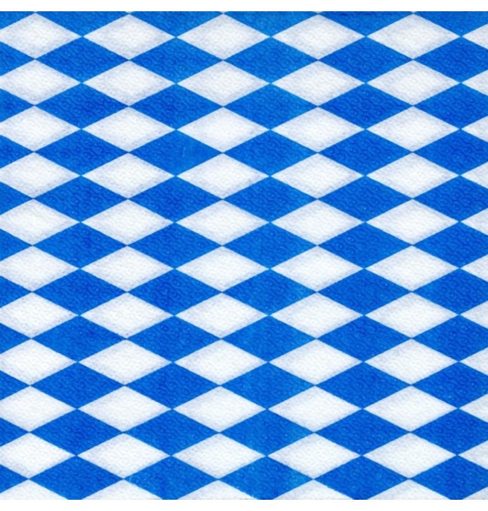 Set 100 servetele, model Bavarian Blue, 1 strat, dimensiuni 330x330mm