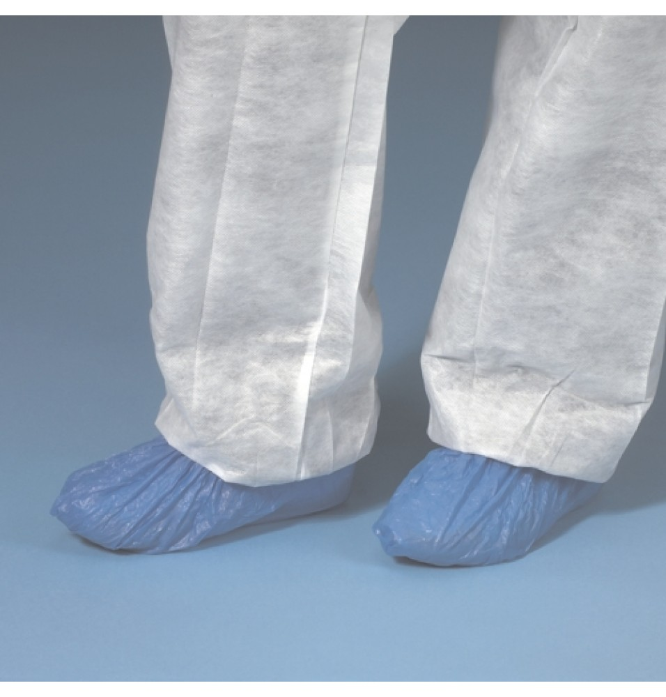 Set 100 protectii pantofi, polietilena, dimensiuni 150x70x410mm, albastru