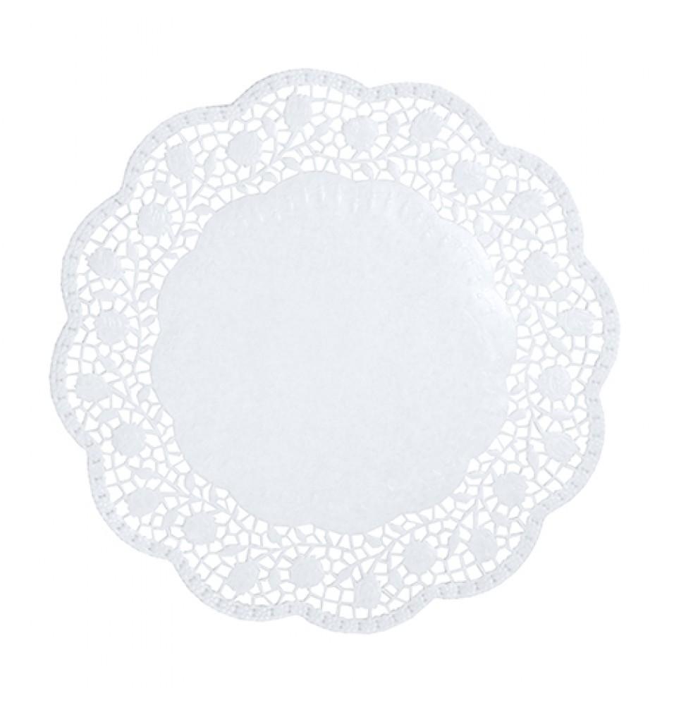 Set 100 suport rotund pentru prajituri, culoare alb, diametru 300mm