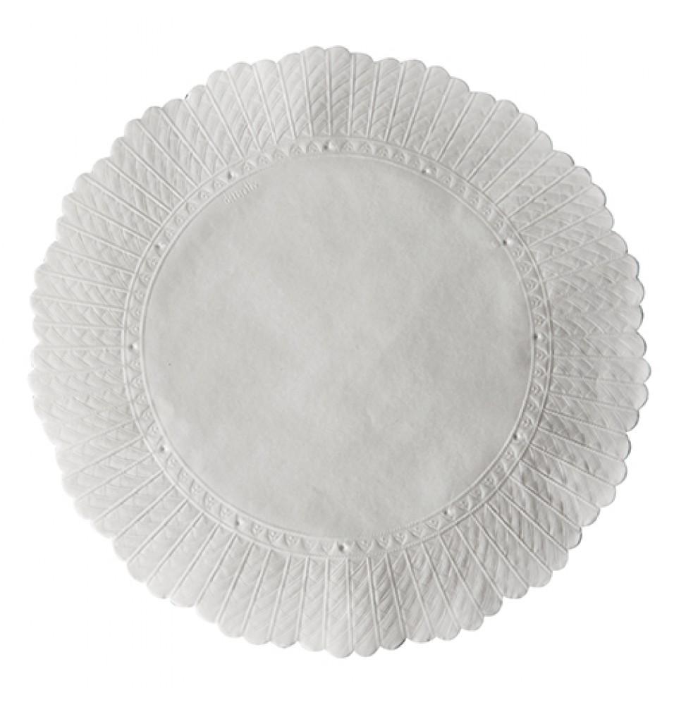 Set 500 suport pentru prajituri -din hartie, culoare alb, diametru 205mm