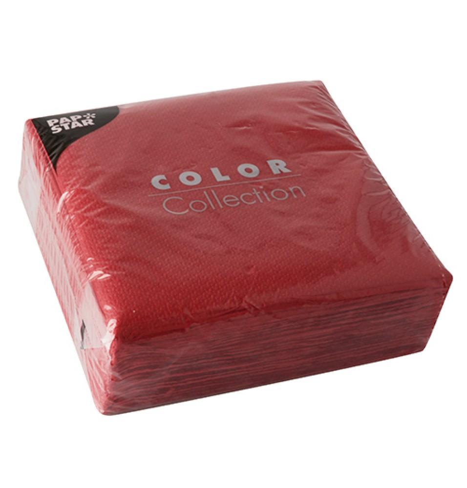 Set 100 servetele, culoare rosu, dimensiuni 330x330mm