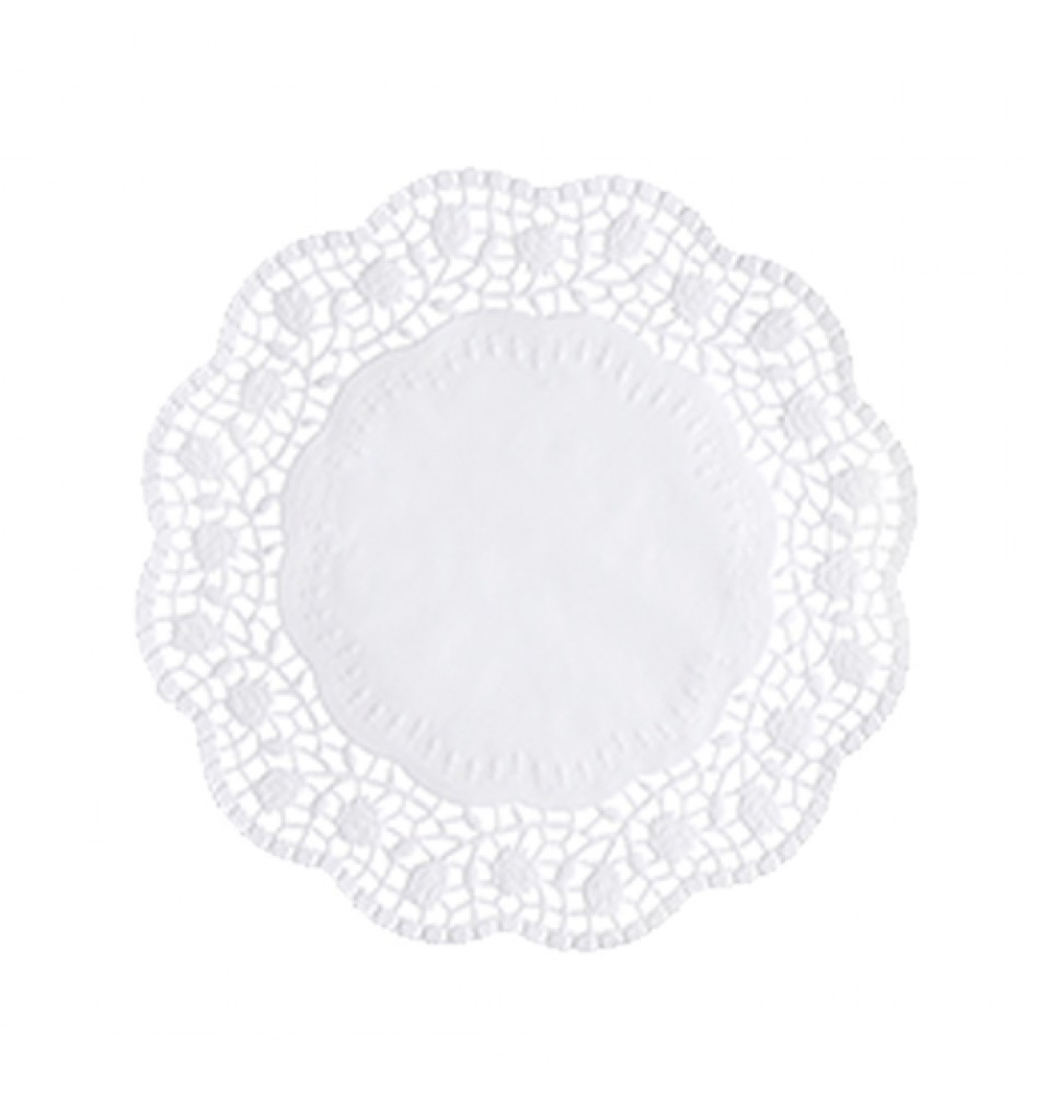 Set 100 suport rotund pentru prajituri, culoare alb, diametru 200mm