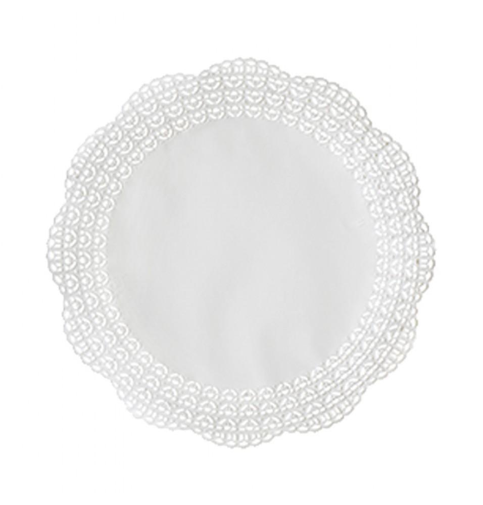 Set 100 suport rotund pentru prajituri, culoare alb, diametru 250mm