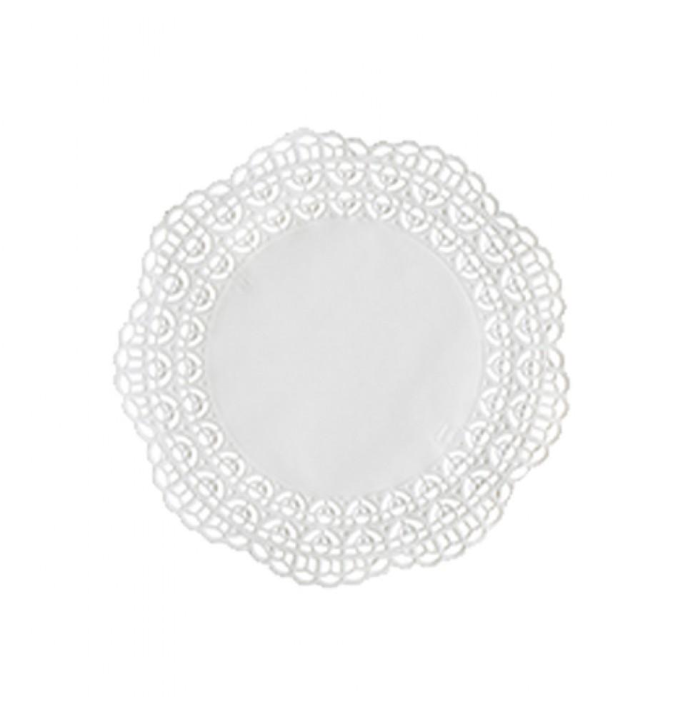 Set 100 suport rotund pentru prajituri, culoare alb, diametru 180mm