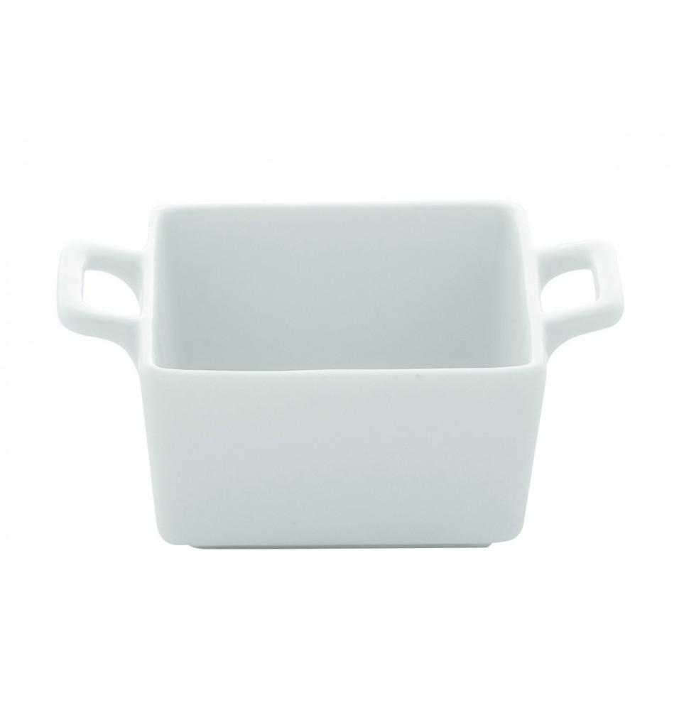 Caserola rectangulara din portelan alb 90x63mm