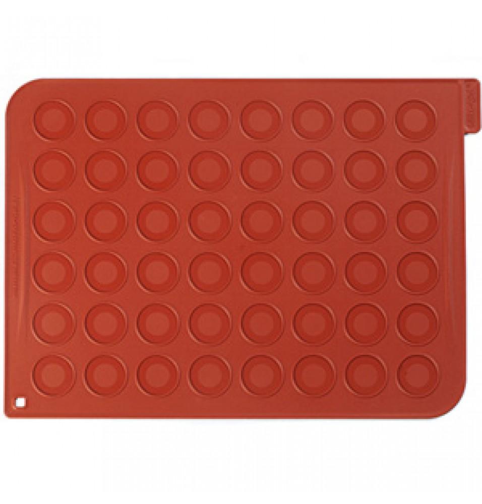 Forma din silicon alimentar pentru 48 macarons, diametru forma macarons 30mm