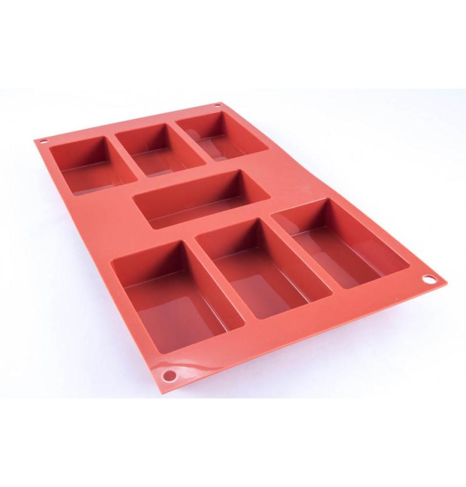 Forma cu 7 dreptunghiuri, silicon culoare rosie