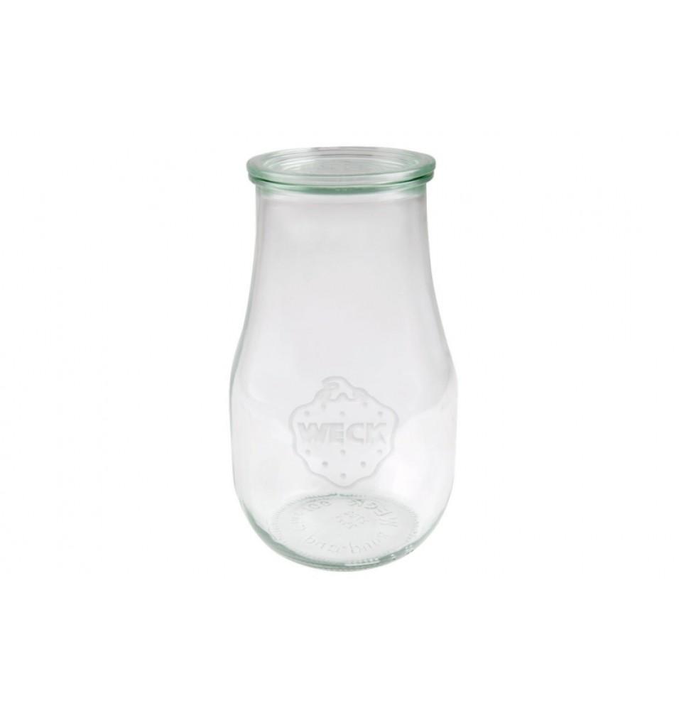 Borcan cu capac, model Tulip, din sticla, capacitate 2,7 litri