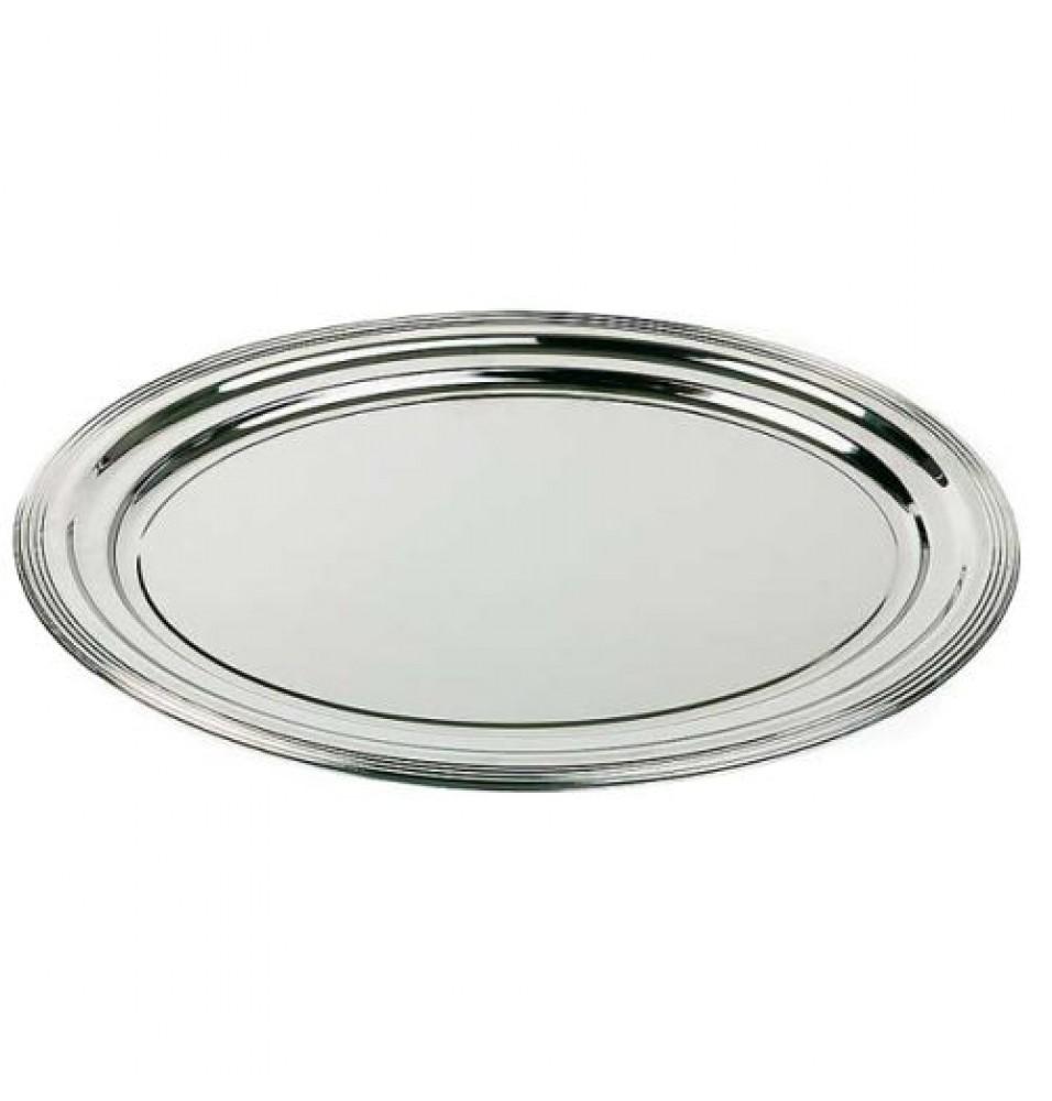 Tava, ovala, metal cromat, dimensiuni 460x340mm
