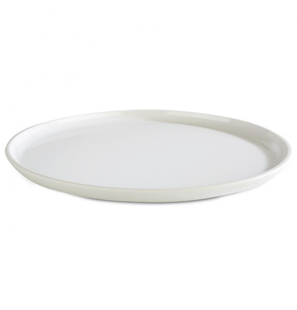 Platou rotund melamina, culoare alb, diametru 240mm