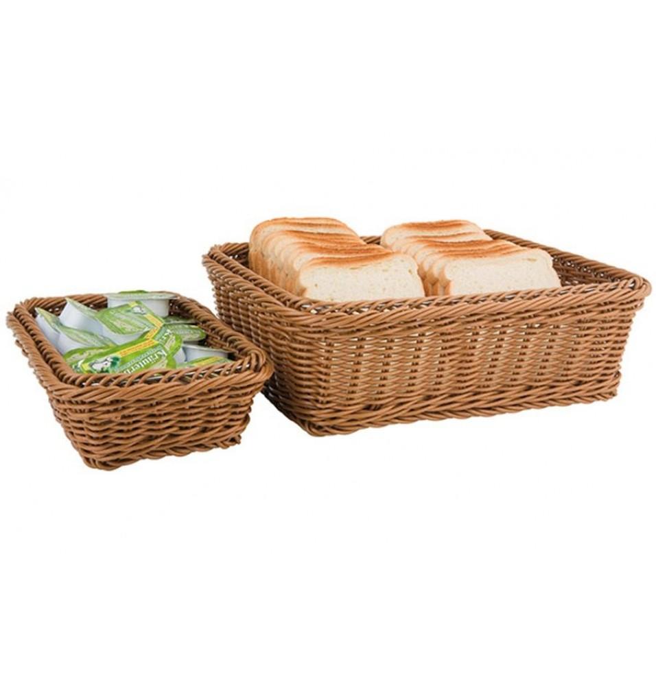 Cos pentru paine, din ratan sintetic, culoare maro, dimensiuni:325x265x65h mm