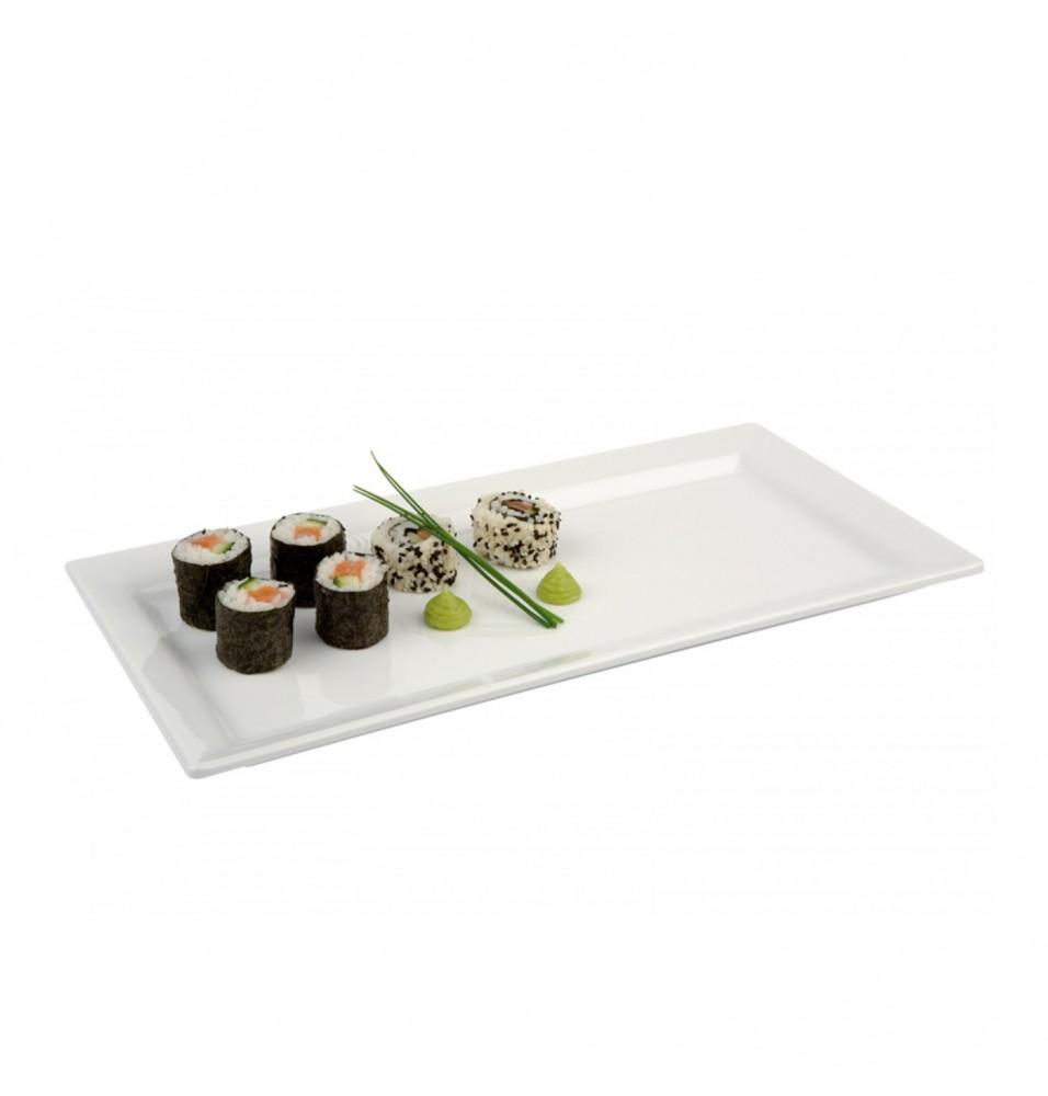 Platou servire/sushi, culoare alba
