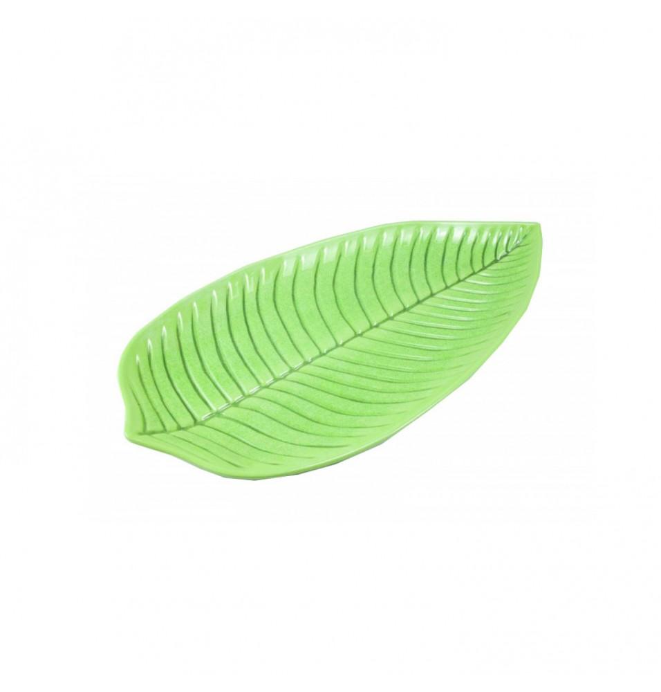 Platou frunza, din melamina, culoare verde