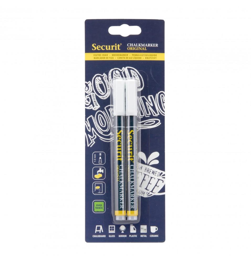 Set 2 markere, 1-2mm, culoare alb
