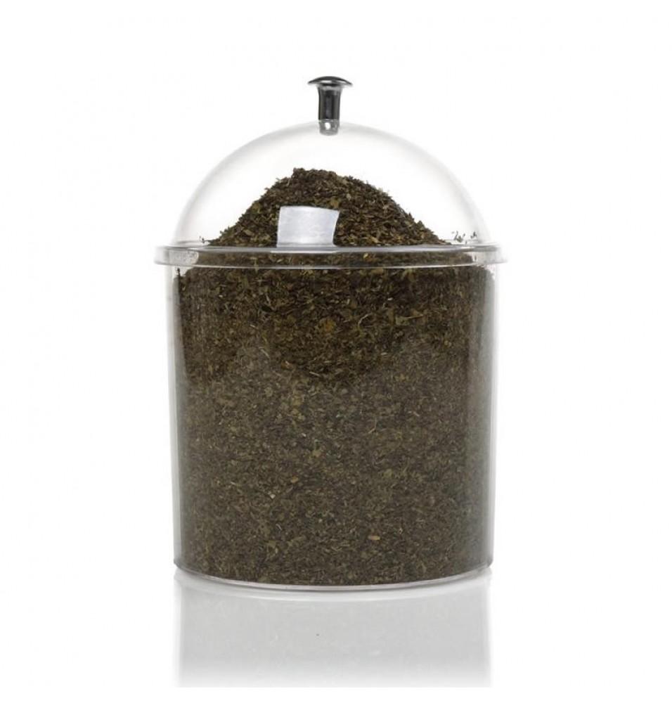 Recipient rotund expunere fursecuri/mirodenii/ceaiuri, capacitate 1.8 litri