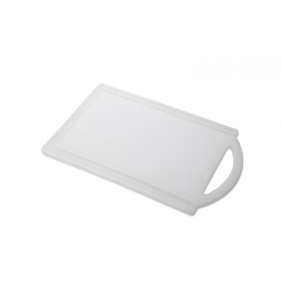 Tocator cu maner-culoare alb, dimensiuni 190x302x6.5hmm