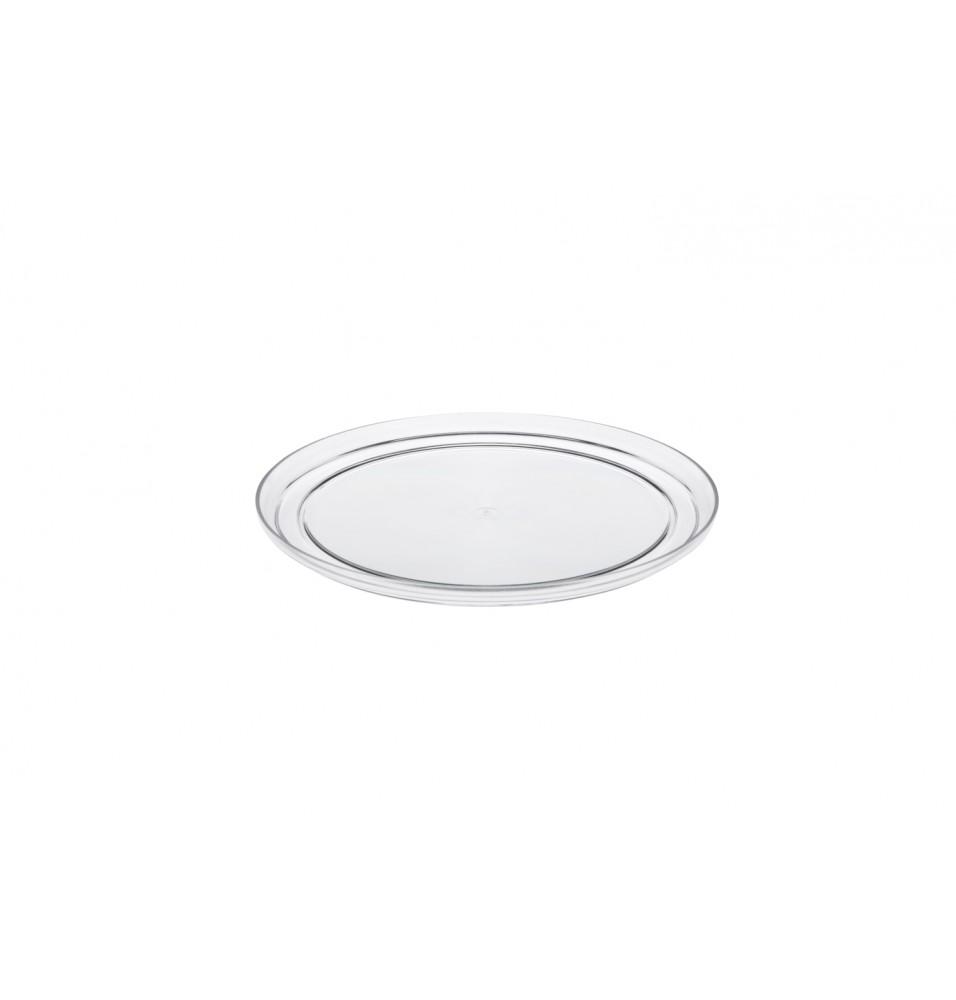 Tava rotunda pentru expunere tort, transparenta, diametru 250mm