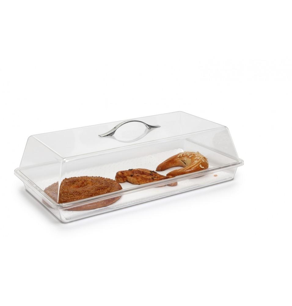 Set rectangular pentru expunere tort format din tava+capac, policarbonat