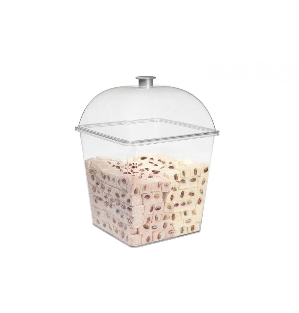 Set pentru expunere biscuiti/jeleuri format din recipient+capac, dimensiuni 260x365mm