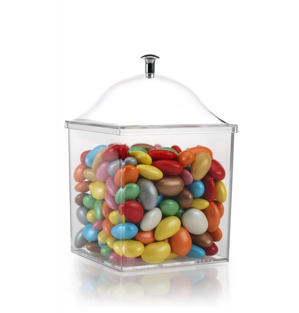 Capac pentru recipient expunere fursecuri/mirodenii/ceaiuri, policarbonat, dimensiuni 130x130x75hmm