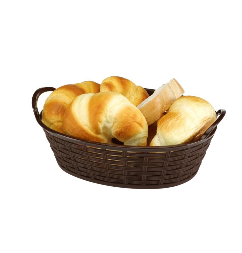Cos oval pentru paine  cu manere,  lungime 280mm