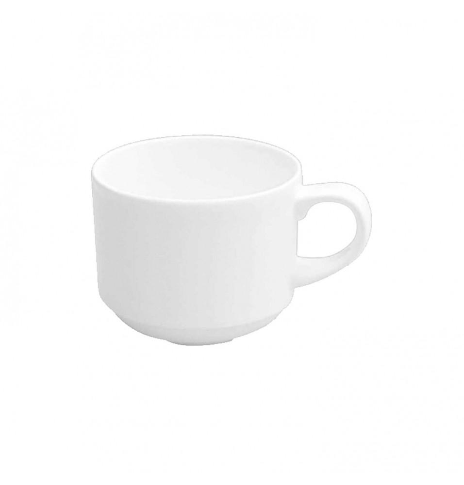 Ceasca pentru ceai, capacitate 206ml, din portelan super-vitrifiat, culoare alba