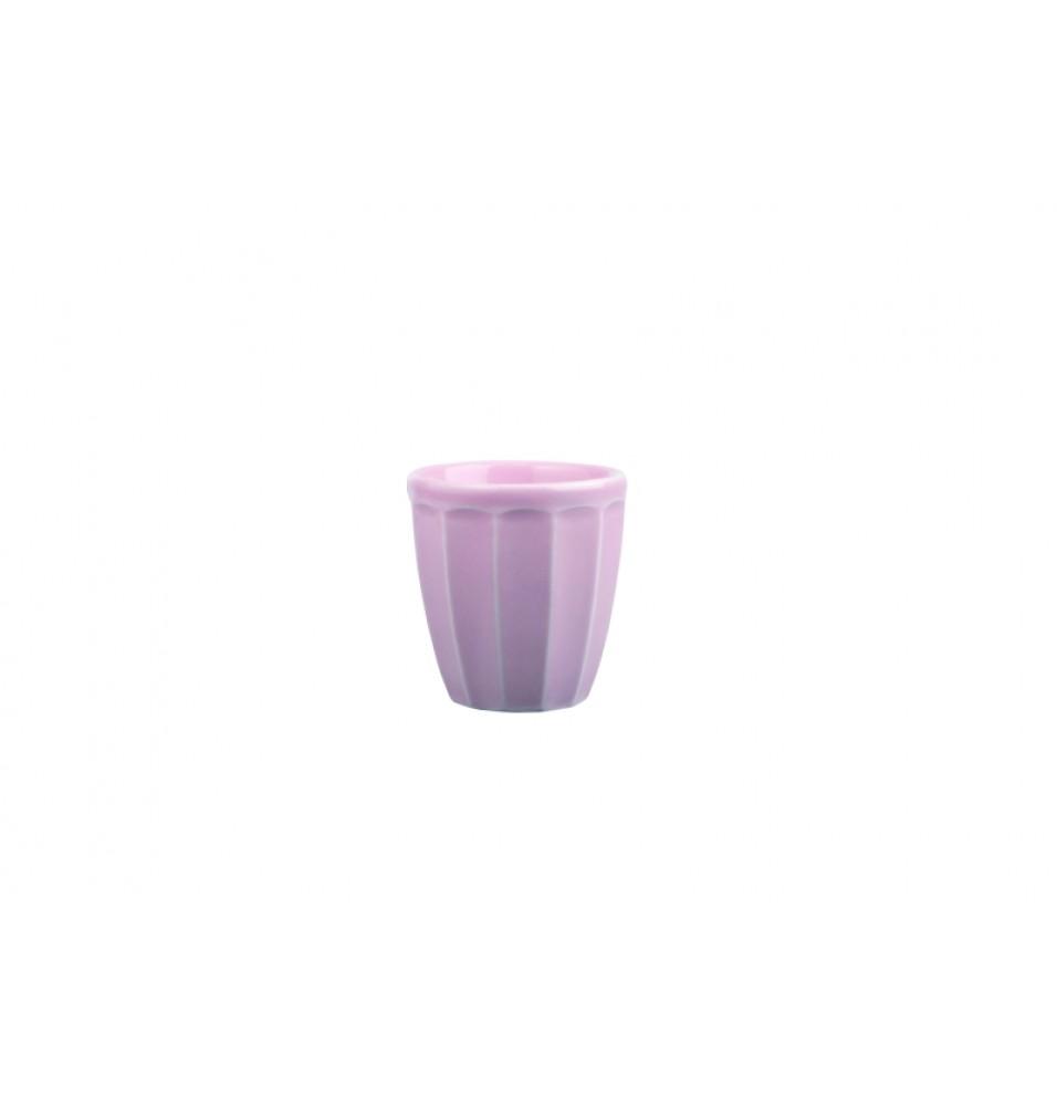 Cupa pentru desert, capacitate 99ml, din portelan super-vitrifiat, culoare roz glazurat pe toata suprafata