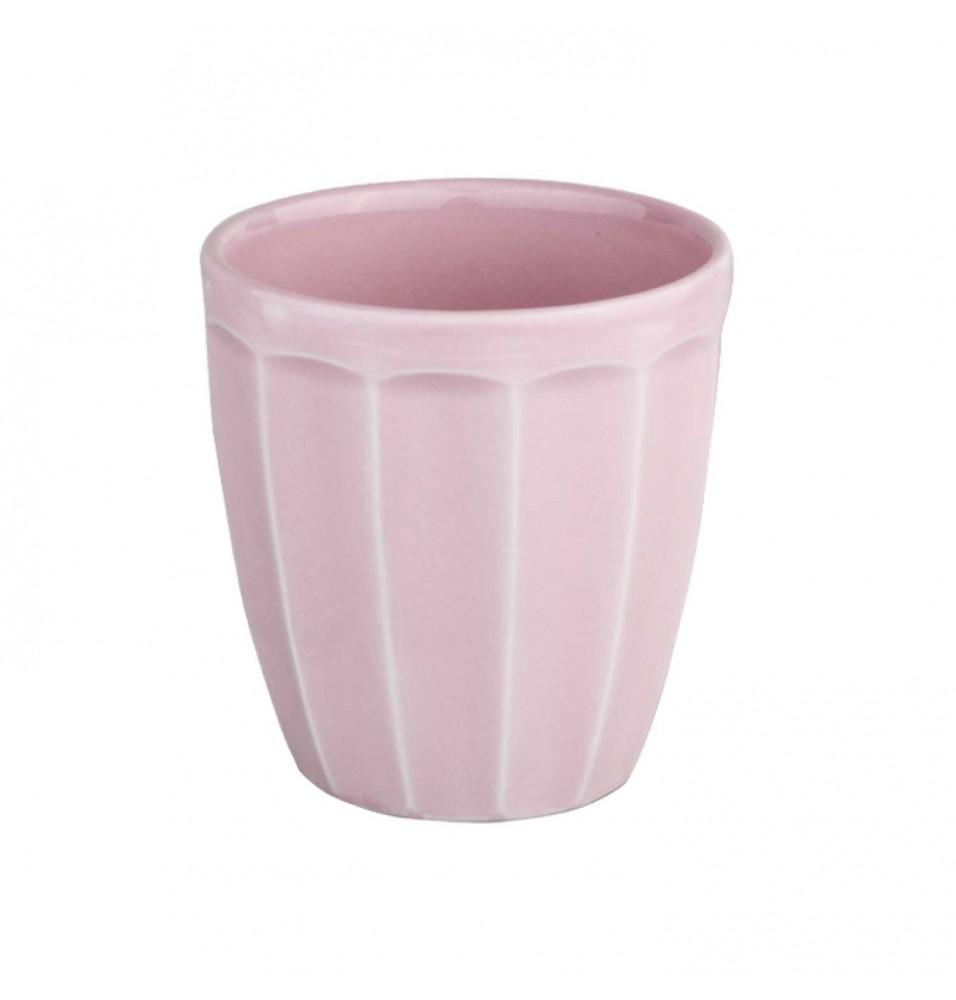Cupa pentru desert, capacitate 257ml, din portelan super-vitrifiat, culoare roz glazurat pe toata suprafata