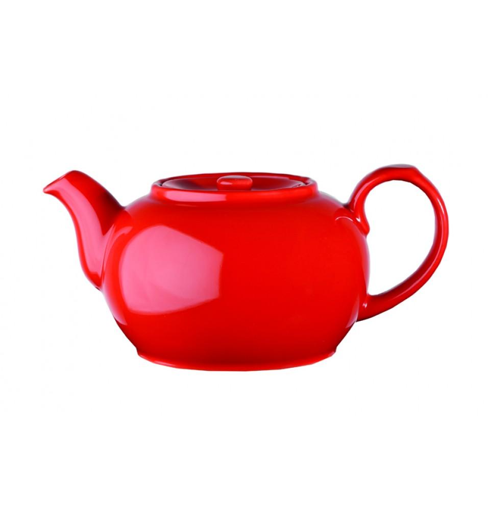 Ceainic, capacitate 420ml, ceramica de culoare rosie